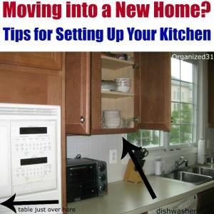 open kitchen cabinets near kitchen sink