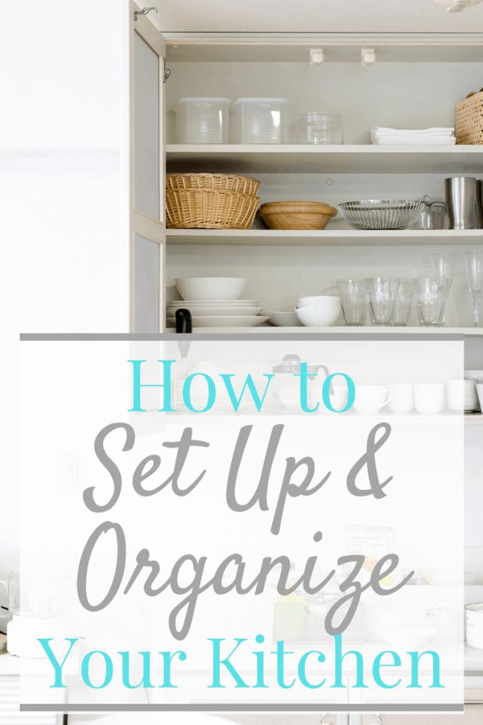 neatly organized kitchen cabinet