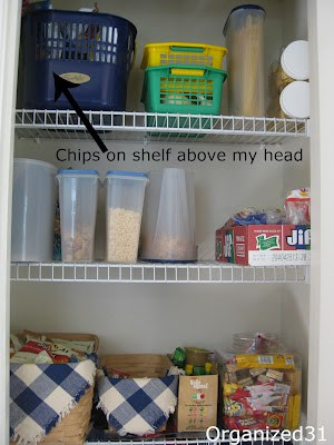 organized wire pantry shelves