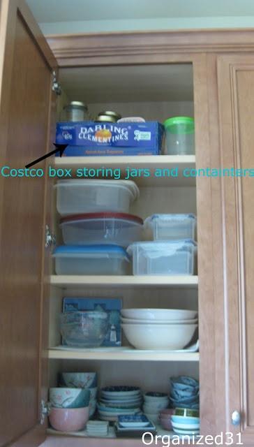 kitchen cupboard neatly organized