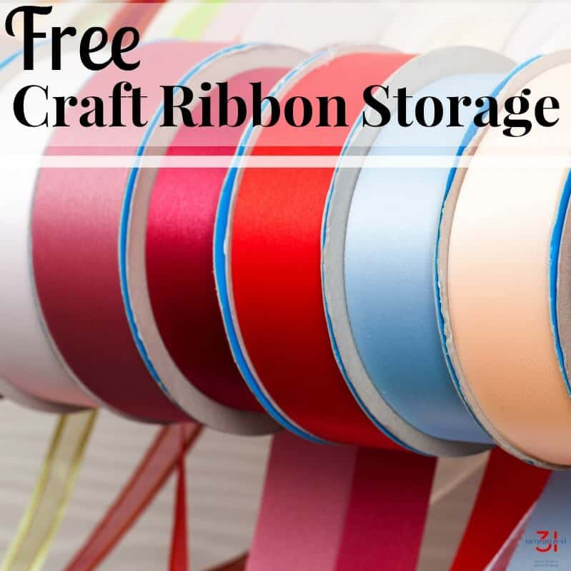 Organizing a craft room gives you the space and peace to be creative. This free craft ribbon storage hack is earth-friendly and is perfect for organization.