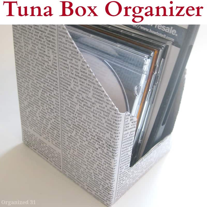 Recycled Tuna Box Organizer - Organized 31