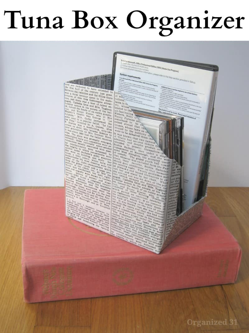 Recycled Tuna Box Organizer - Organized 31