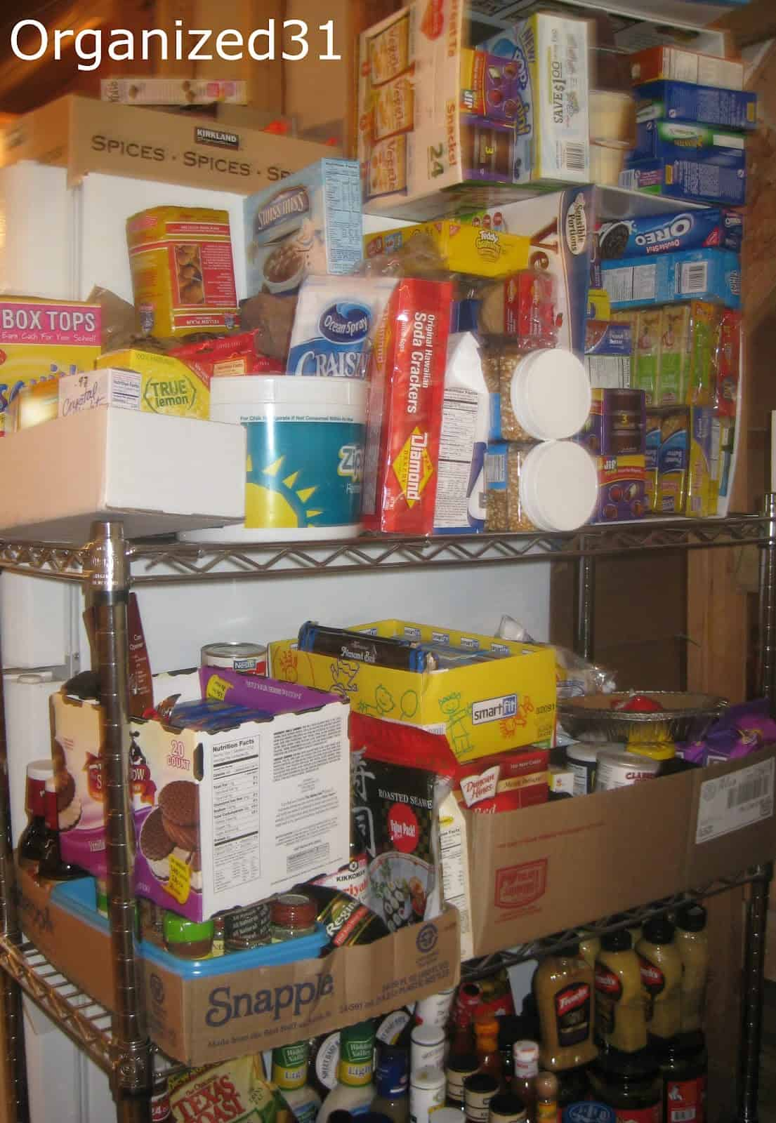 organize your pantry by using up the food you have organized 31