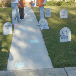 Tombstone Decorating with Repurposed Boxes