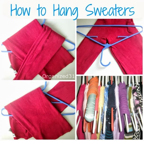Organized 31 - How to Best Hang Your Sweaters