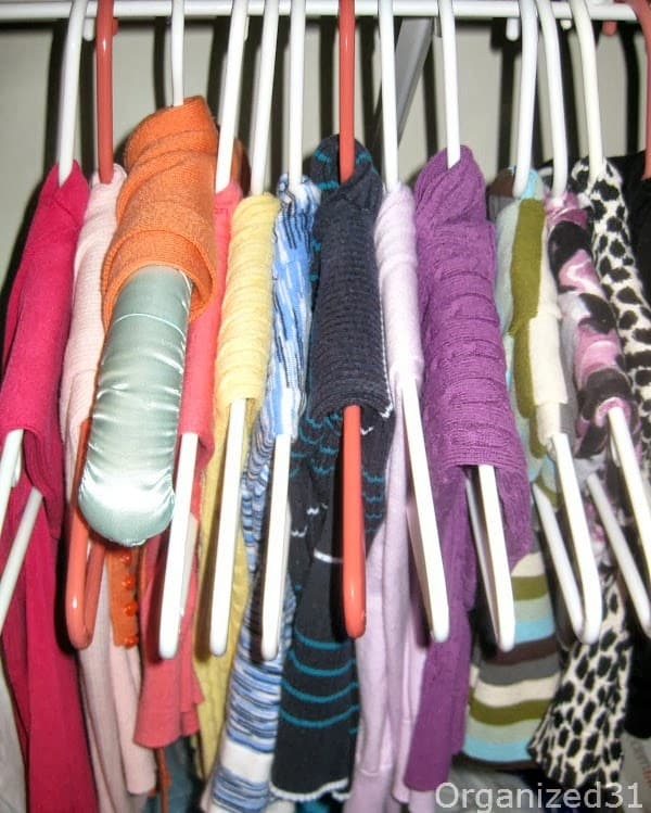 best way to hang up your sweaters organized 31. Black Bedroom Furniture Sets. Home Design Ideas