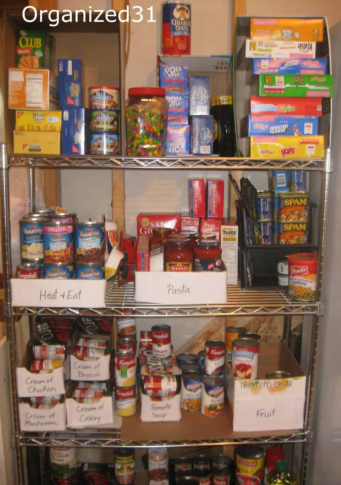 Organizing Your Pantry By Using Up The Food You Have
