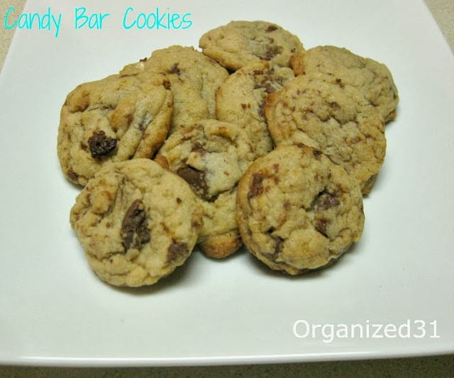 Organized 31 - Candy Bar Cookied made with on sale after holiday candy