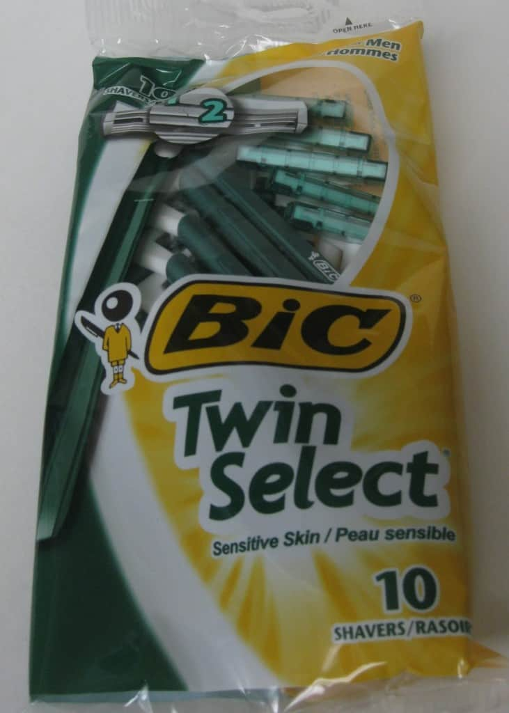 large package of disposable razors