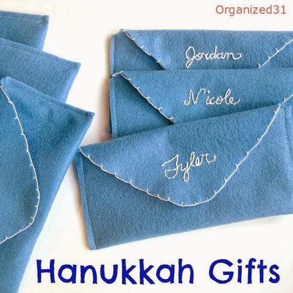 Organized 31 - DIY Hanukkah Gift Felt Gelt Envelope