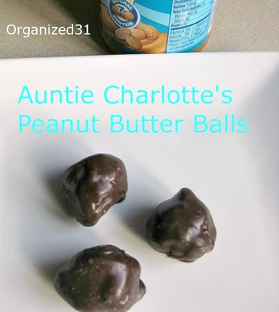 Peanut Butter Balls - Organized 31
