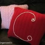 Upcycled Sweater Pillows - Organized 31
