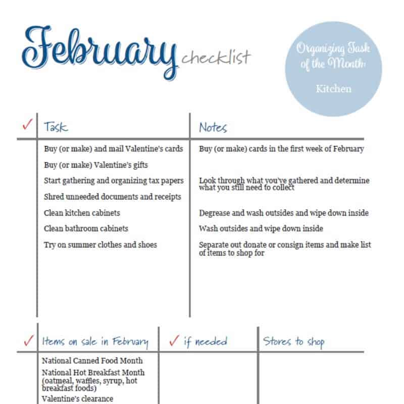 Free Printable January To Do List for your planner.