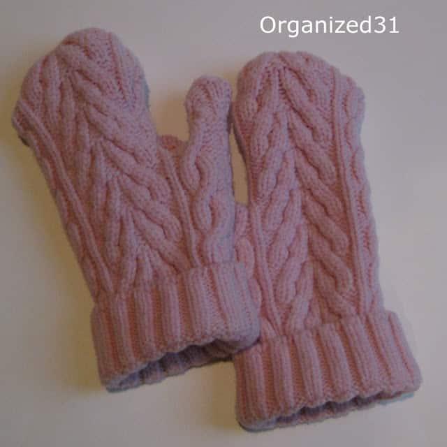 Organized 31 - Repurposed Sweater Mittens