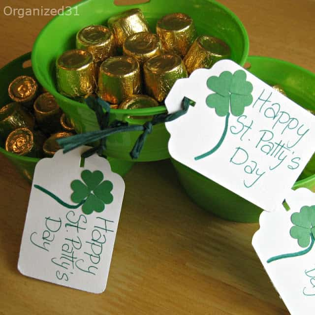 Organized 31 - St. Patrick's Day treat - Bucket o' Gold Candy