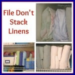 File Linens to Organize Your Linen Closet - Organized 31
