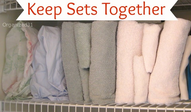 Organized 31 - keep sheet and towel sets together