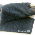 Repurposed Sweater Sleeve to Travel Shoe Bag