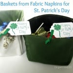 Upcycled Fabric Basket for St. Patrick's Day- Organized 31