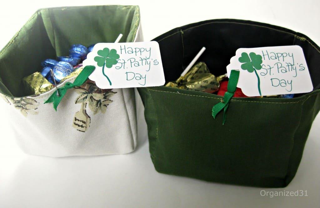 Upcycled Fabric Basket - Organized 31