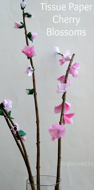 Organized31 - Tissue Paper Cherry Blossoms