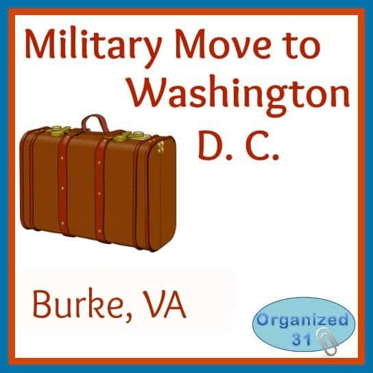 Organized 31 - Military Move to Washington D.C. - Burke, VA