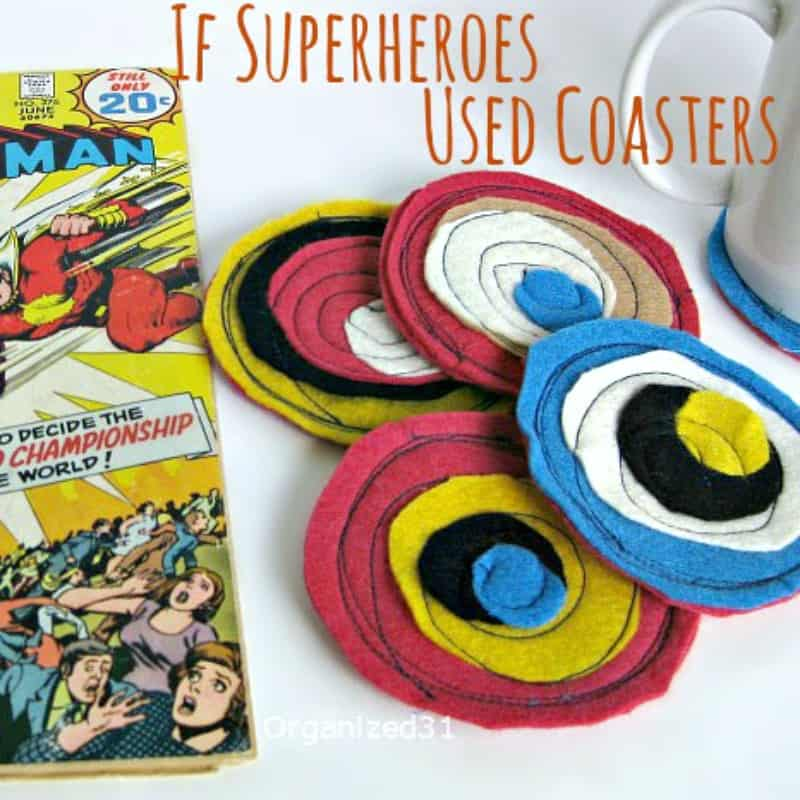 Superhero Coasters - Organized 31 #superhero