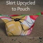 Upcycled Skirt to Zipper Pouch