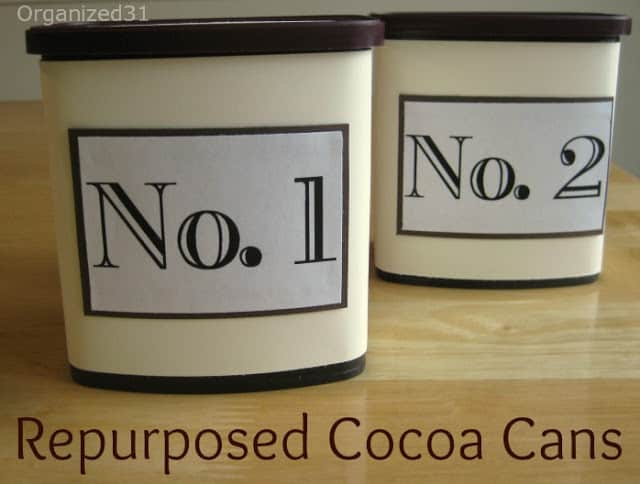 Organized31 - Upcycled Cocoa Can