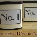 Repurposed Cocoa Cans