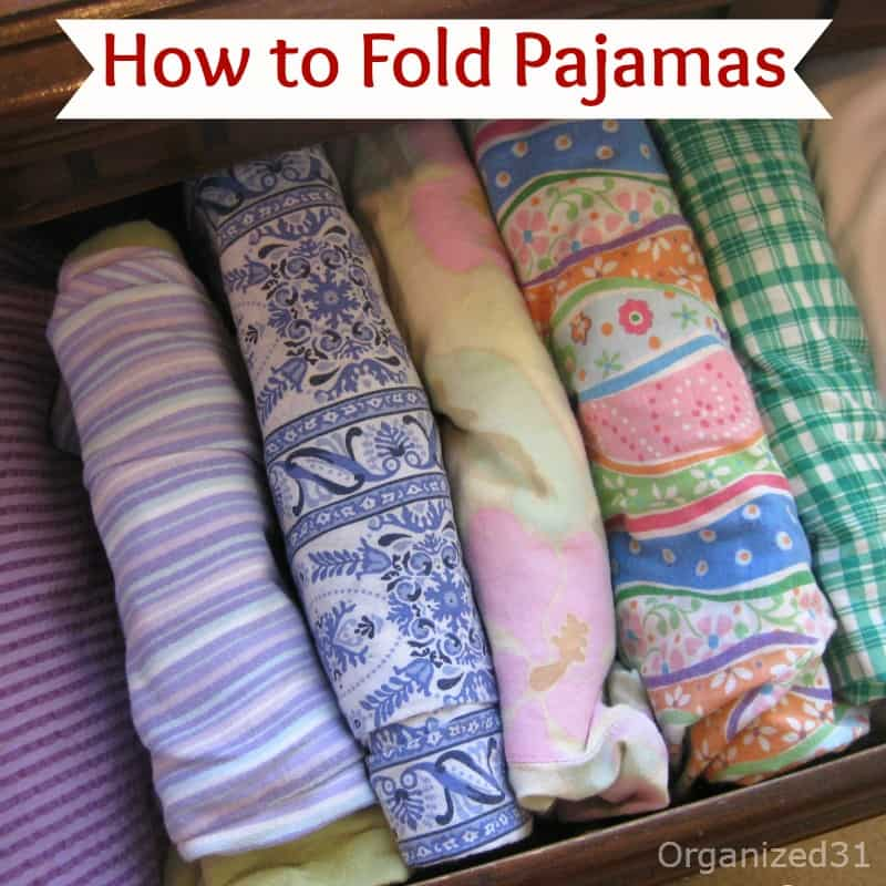 How To Fold Pajamas And Organize Your Drawer By Filing