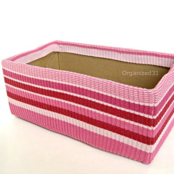 Organized 31 - Upcycled Sweater Organizing Box