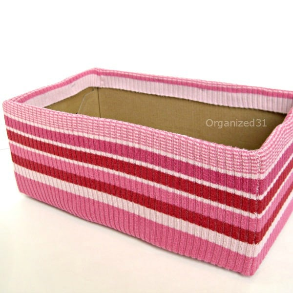 Stylish Upcycled Sweater Box for Organizing -Organized 31
