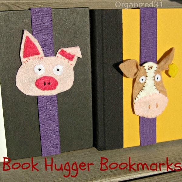 Easy to make felt farm animal book hugger book marks - Organized 31