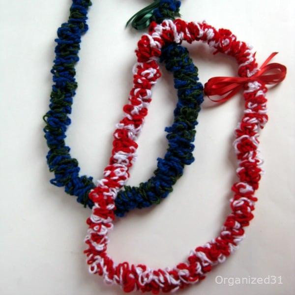 Organized 31 - Crocheted Graduation Leis