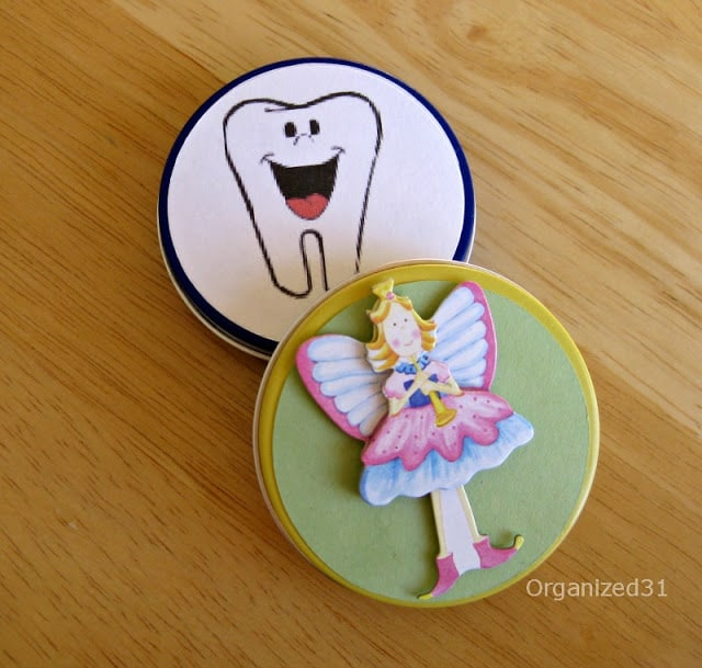 Organized 31 - Repurposed Tin Tooth Fairy Box