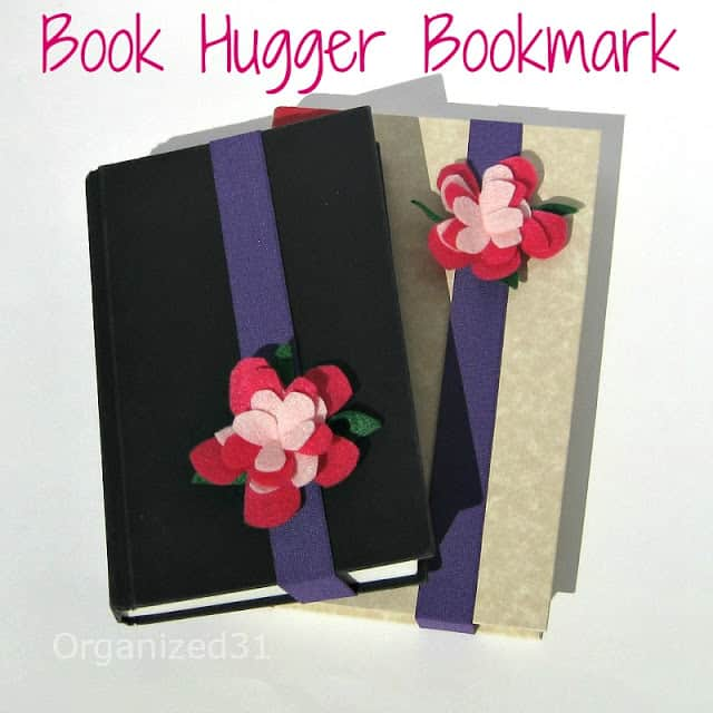 Organized 31 - Book Hugger Bookmark