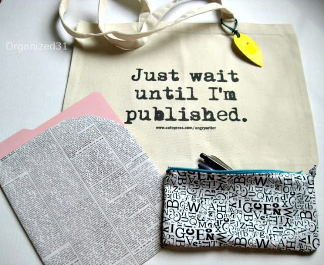 Organized 31 - Writer's Conference Tote Bag