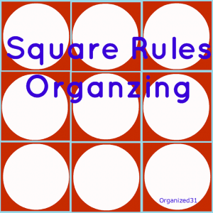 grid of red squares with white circles in each red square