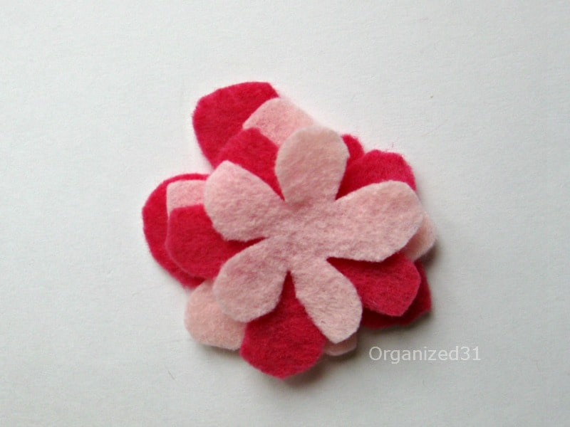 Felt Flower Book Hugger Bookmark - Organized 31