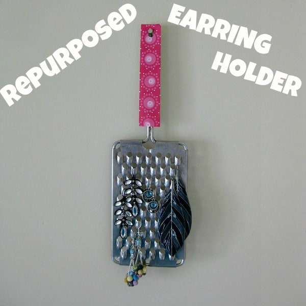 Organized 31 - Repurposed Cheese Grater Earring Organizer