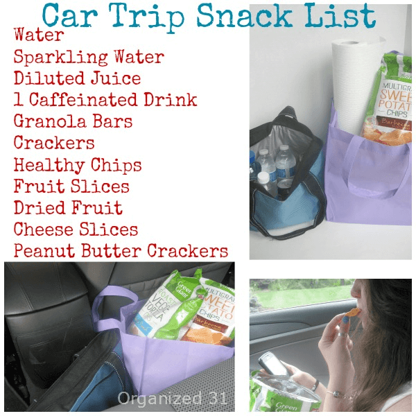 Road Trip Snack List
