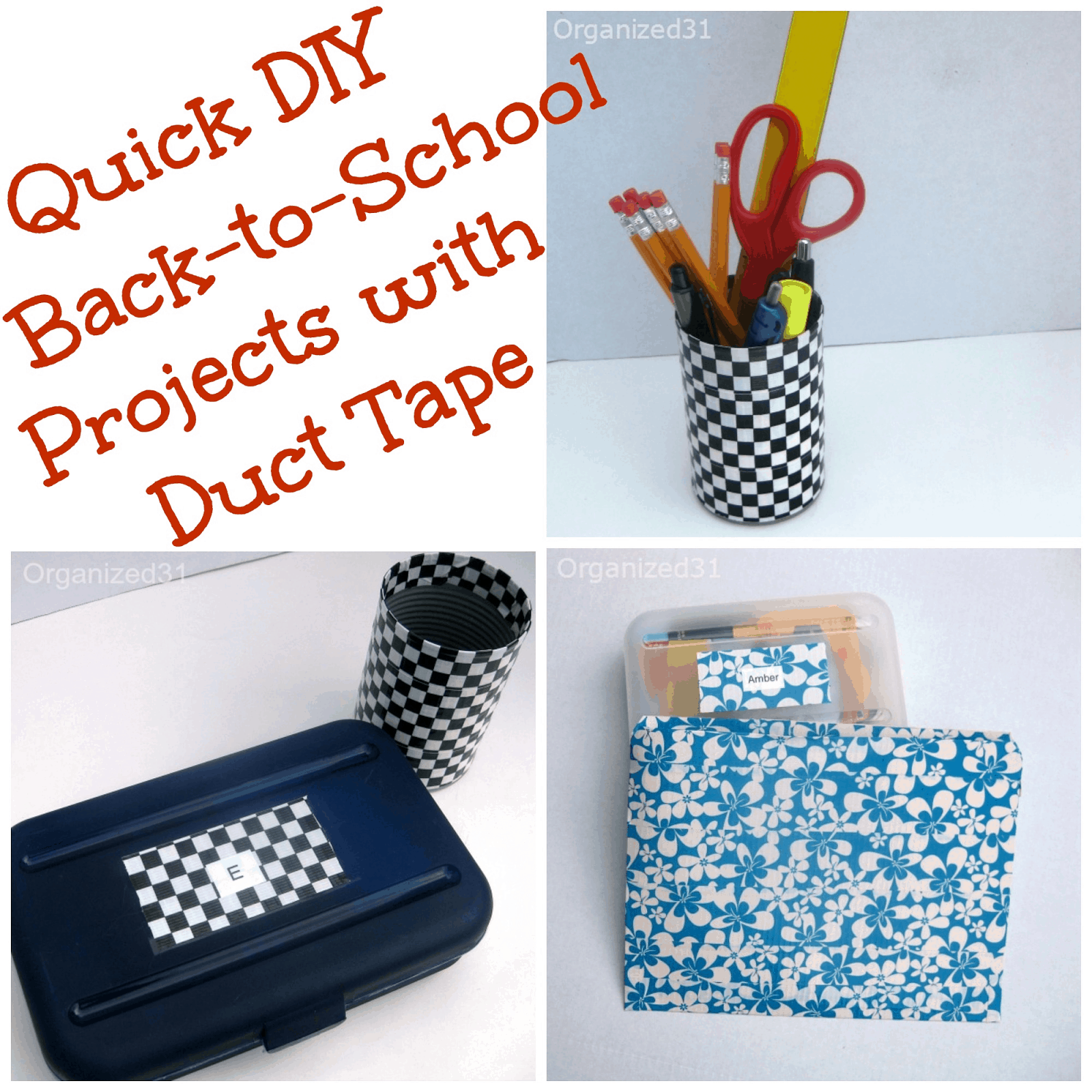 Quick Diy School Supplies With Duct Tape Organized 31