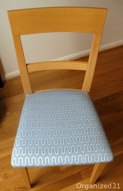 Organized 31 - Cheap and Easy Chair Reupholstery Redo Project