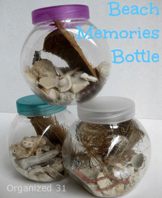 Organized 31 - (Almost Free) Beach Memories Souvenir Keepsake