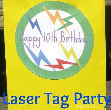Organized 31 - Laser (Lazer) Tag Birthday Party Ideas