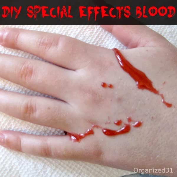 Organized 31 - DIY Special Effects Blood from Household Ingredients