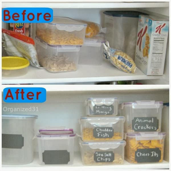 Organized 31 - Simple Pantry Organization with Made in the USA Kidecals