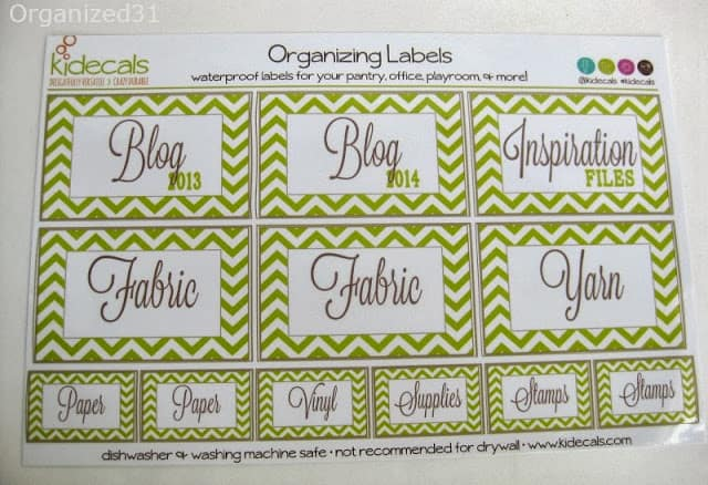 sheet of green craft labels